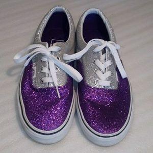 Vans sparkly purple& grey size 7.5